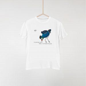 Camiseta pájaro azul y verde
